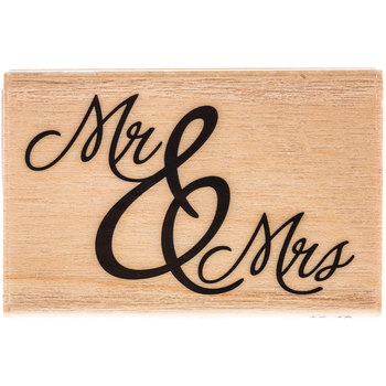 Formal Mr & Mrs Rubber Stamp